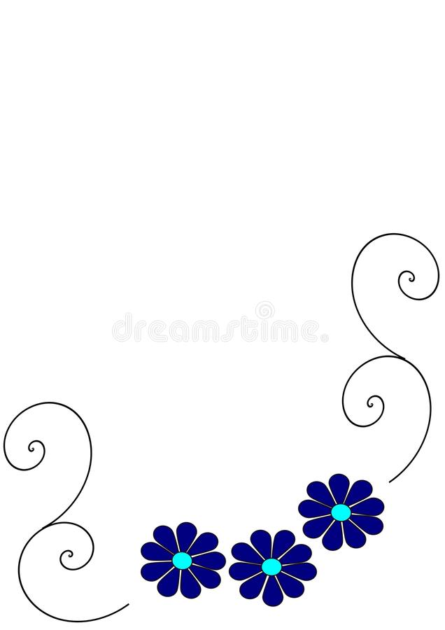 Logotipo de la margarita azul fotos de archivo libres de regalías