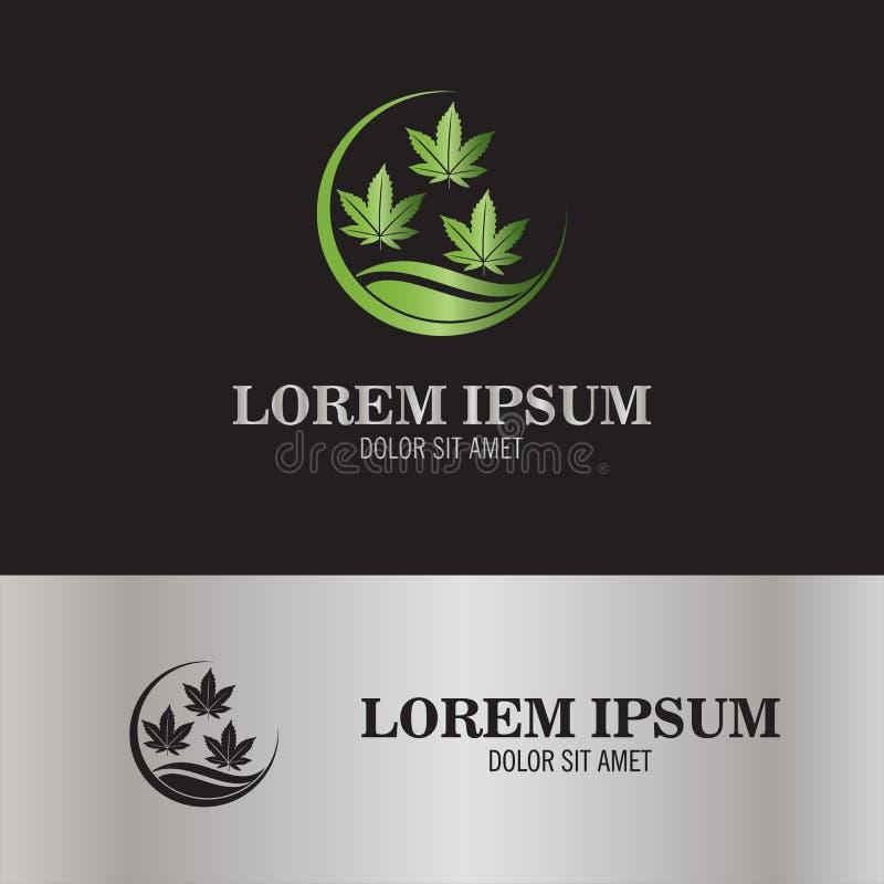 Logotipo de la marijuana de la hoja ilustración del vector
