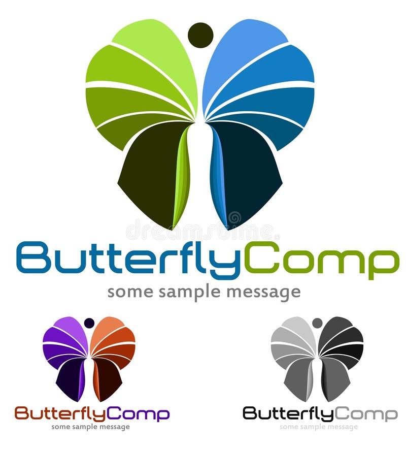 Logotipo de la mariposa ilustración del vector