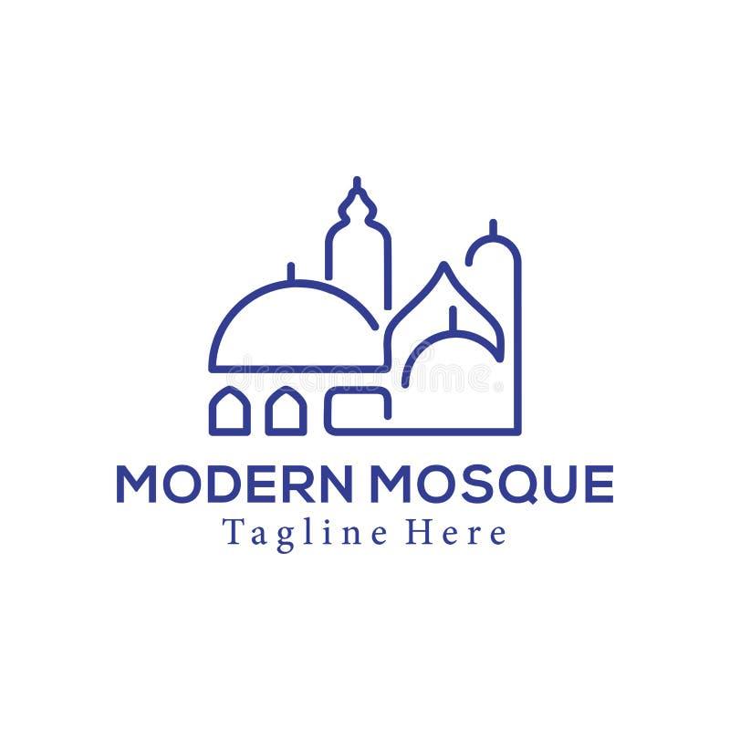 Logotipo de la mezquita moderna y dise?o de centro isl?micos del icono ilustración del vector