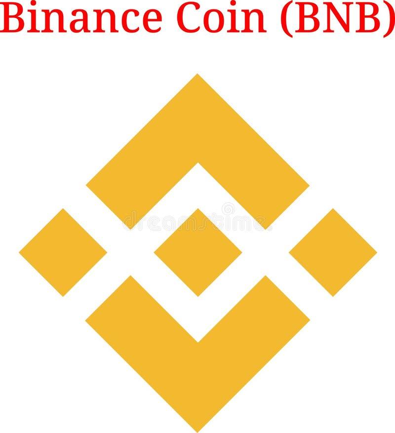 Logotipo de la moneda BNB de Binance del vector stock de ilustración