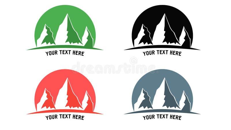 Logotipo de la montaña fotografía de archivo libre de regalías