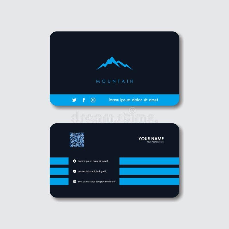 Logotipo de la montaña y plantilla creativos del vector de la tarjeta de visita libre illustration