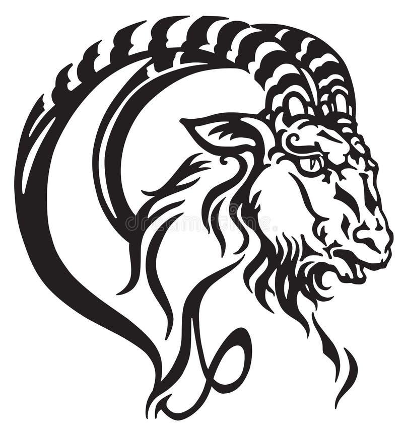 Logotipo de la muestra del zodiaco del Capricornio stock de ilustración