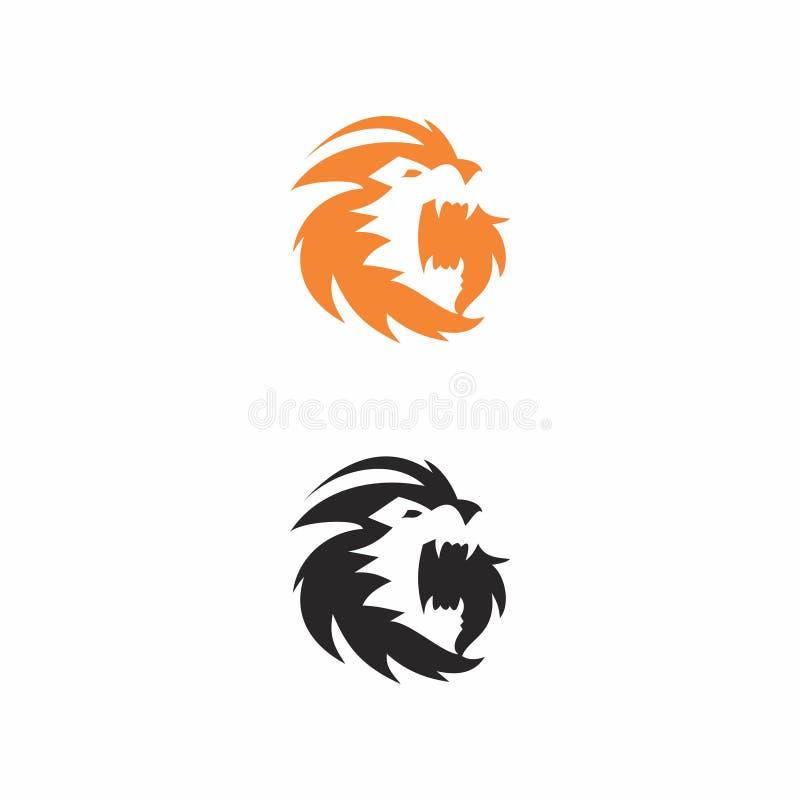 Logotipo de la naranja del león ilustración del vector