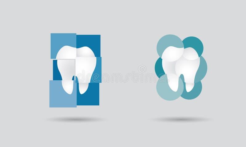 Logotipo de la odontología ilustración del vector