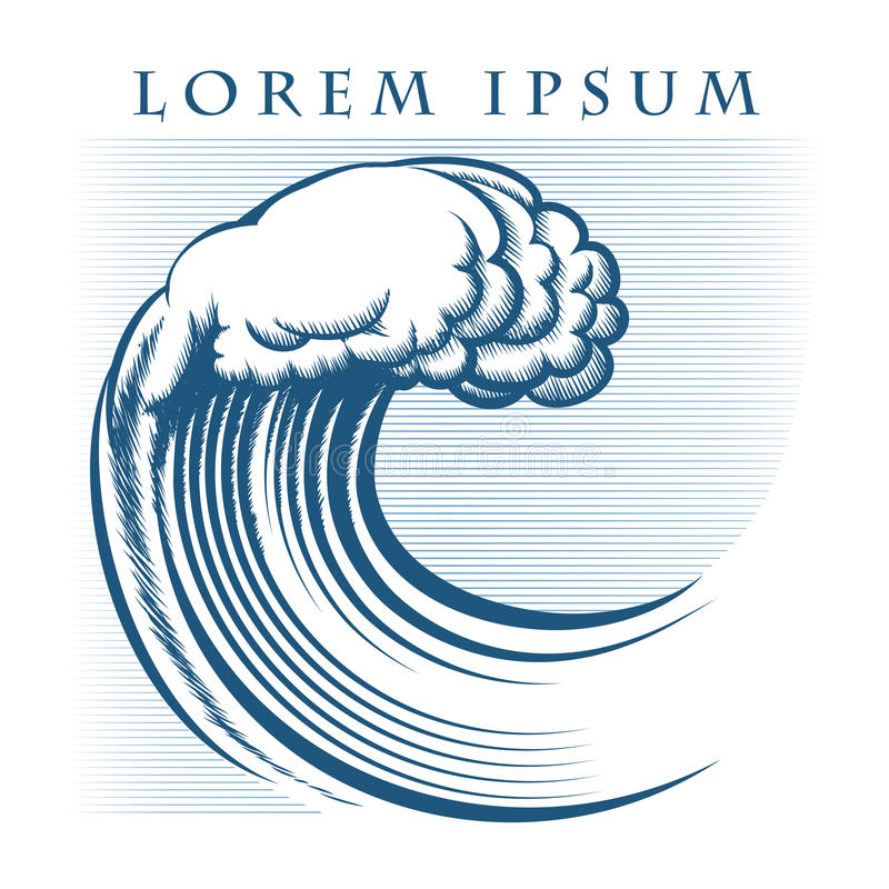 Logotipo de la onda ilustración del vector