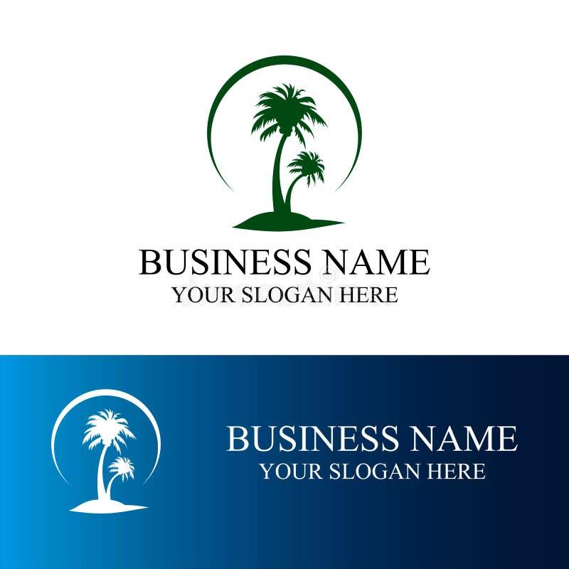 Logotipo de la palmera imagenes de archivo