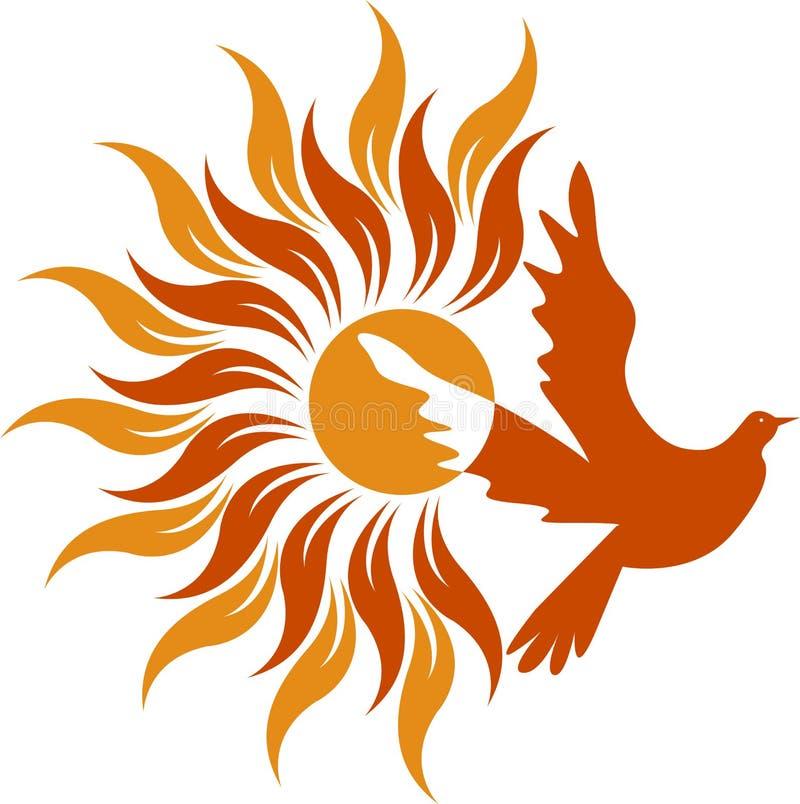 Logotipo de la paloma de potencia ilustración del vector