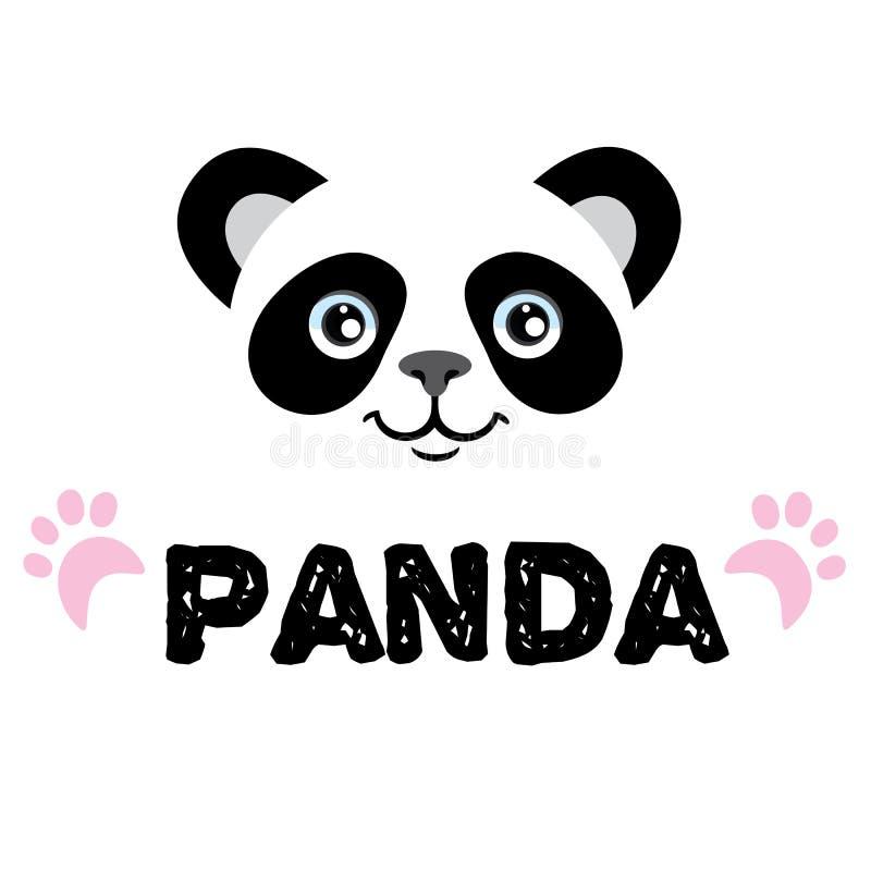Logotipo de la panda ilustración del vector