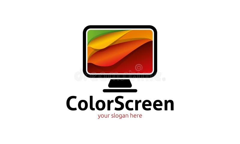 Logotipo de la pantalla a color libre illustration