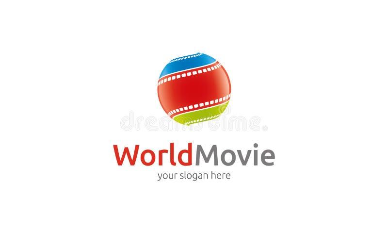 Logotipo de la película del mundo stock de ilustración