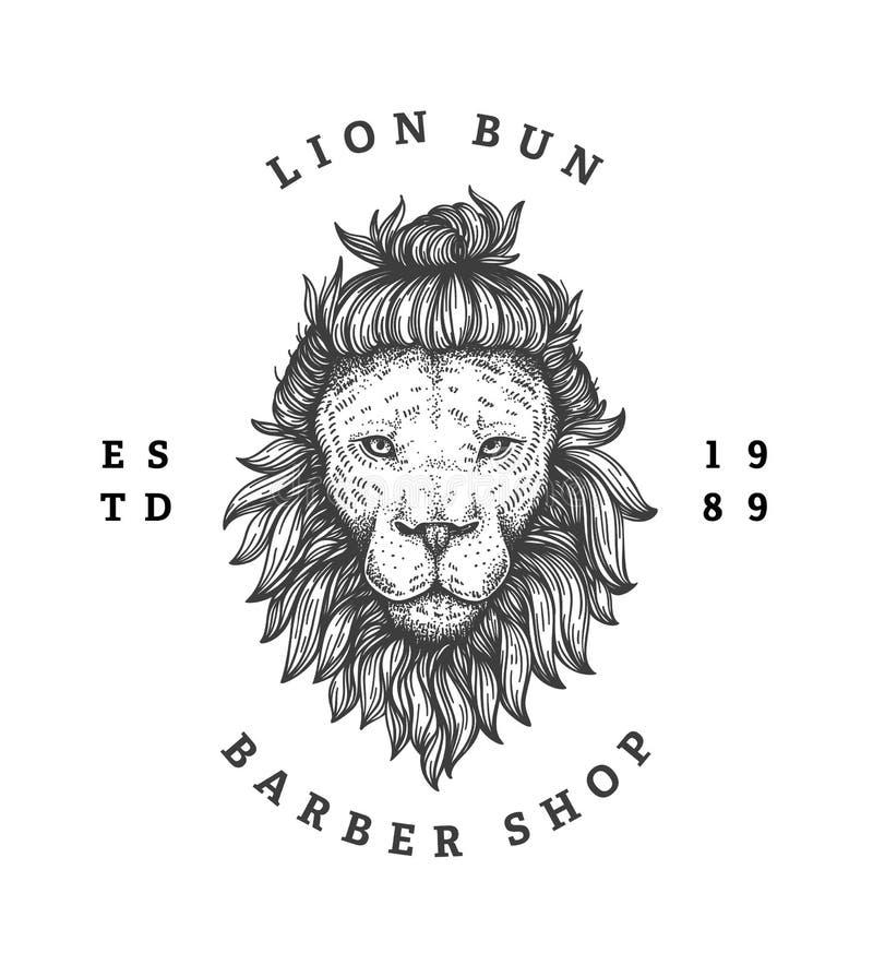 Logotipo de la peluquería de caballeros ilustración del vector