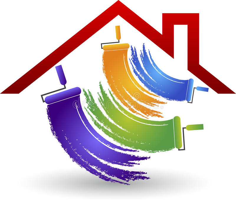 logotipo de la pintura de casa libre illustration