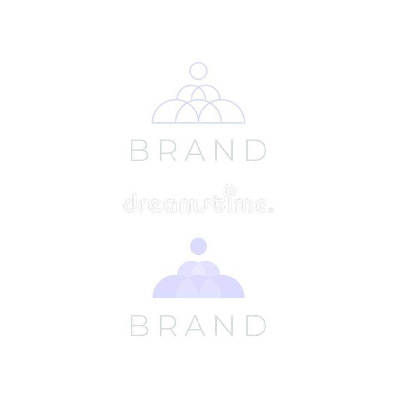 Logotipo de la pirámide del círculo para la belleza y el cosmético libre illustration