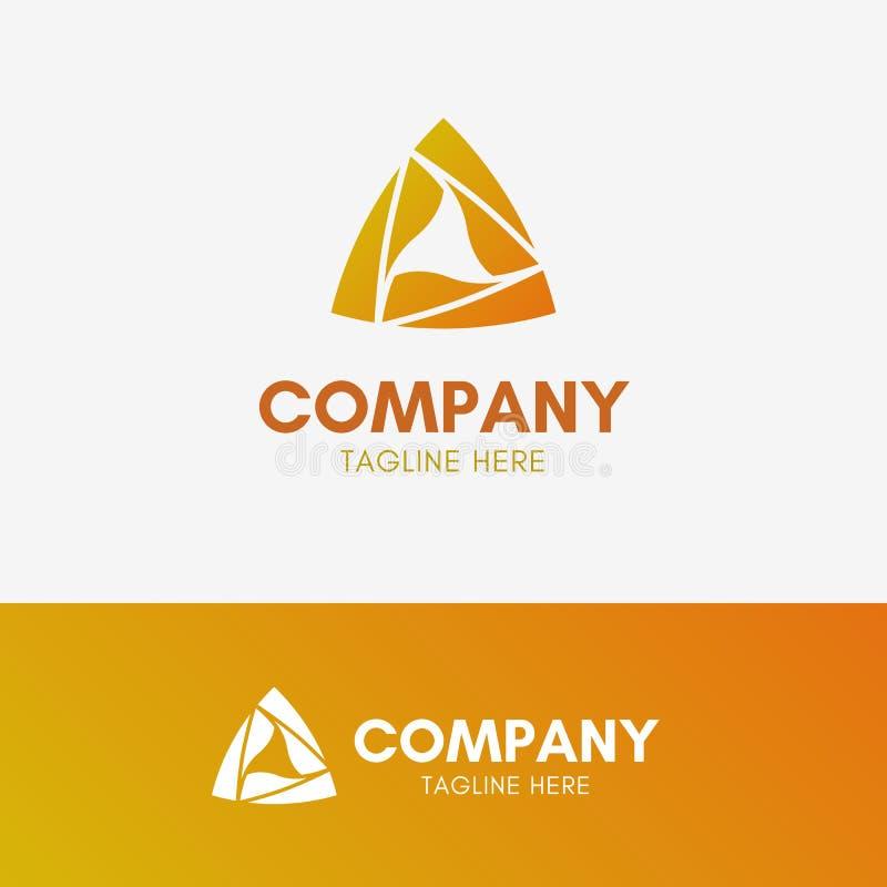 Logotipo de la pirámide del triángulo ilustración del vector