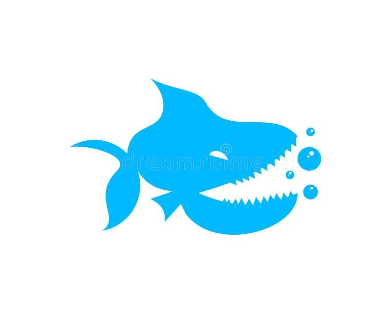 Logotipo de la piraña ilustración del vector