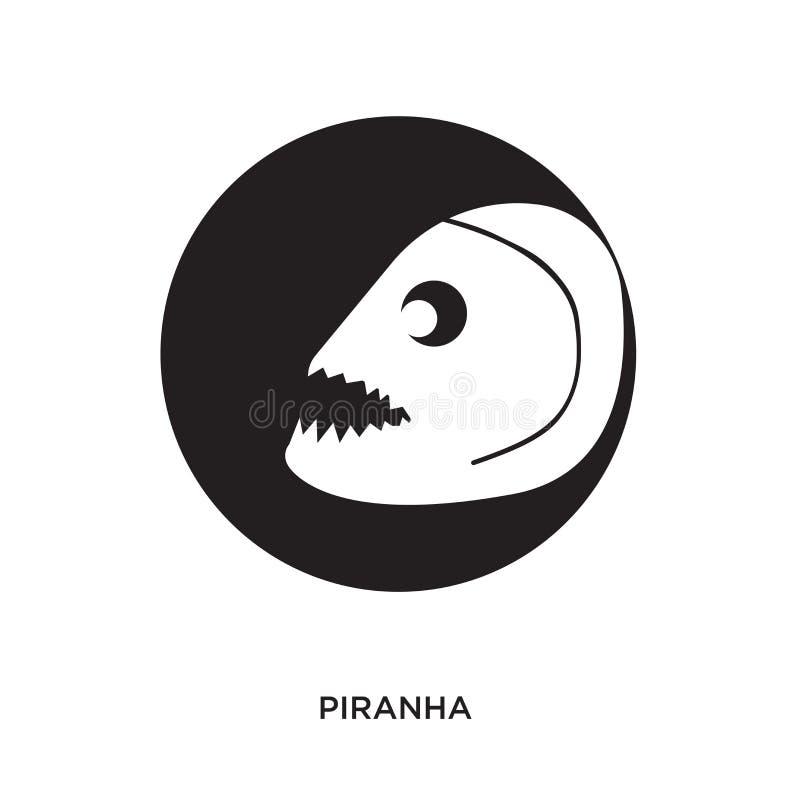 Logotipo de la piraña stock de ilustración