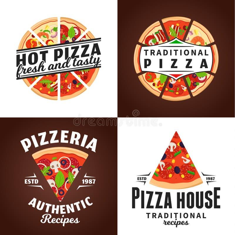 Logotipo de la pizza del vector ilustración del vector