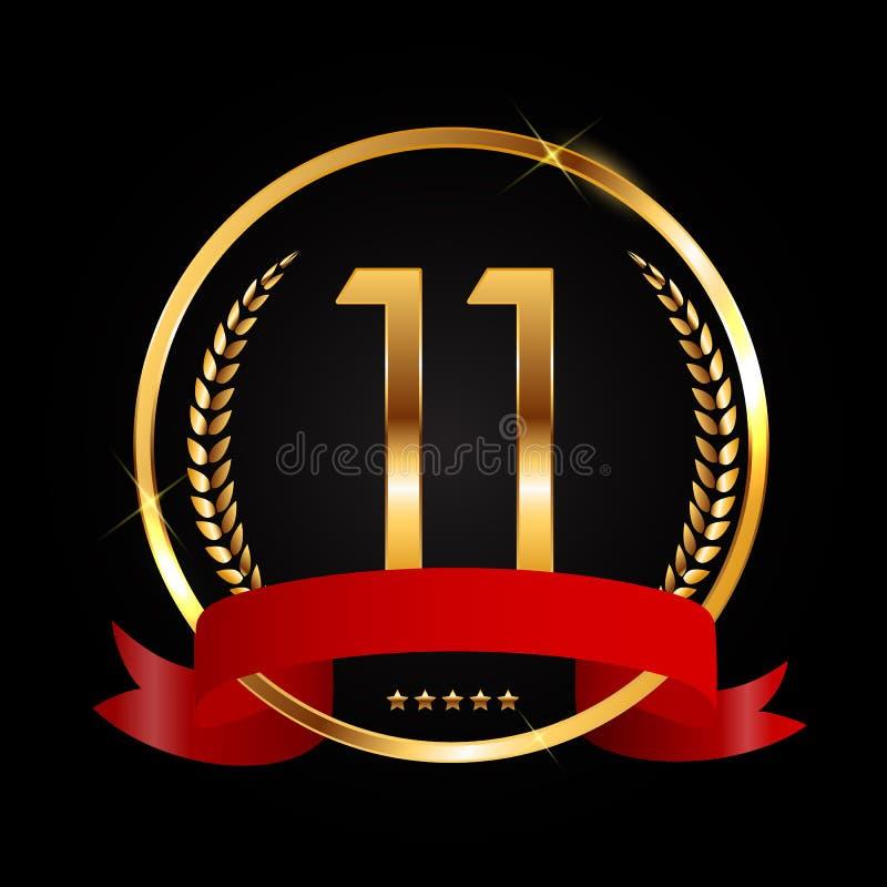 Logotipo De La Plantilla 11 Años Del Aniversario De Ejemplo Del Vector Ilustración del Vector - Ilustración de jubileo, decoración: 111796755