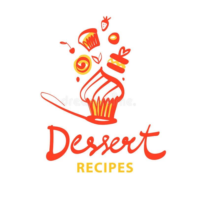 Logotipo de la plantilla del concepto para la confitería, panadería, tienda del caramelo Sil libre illustration