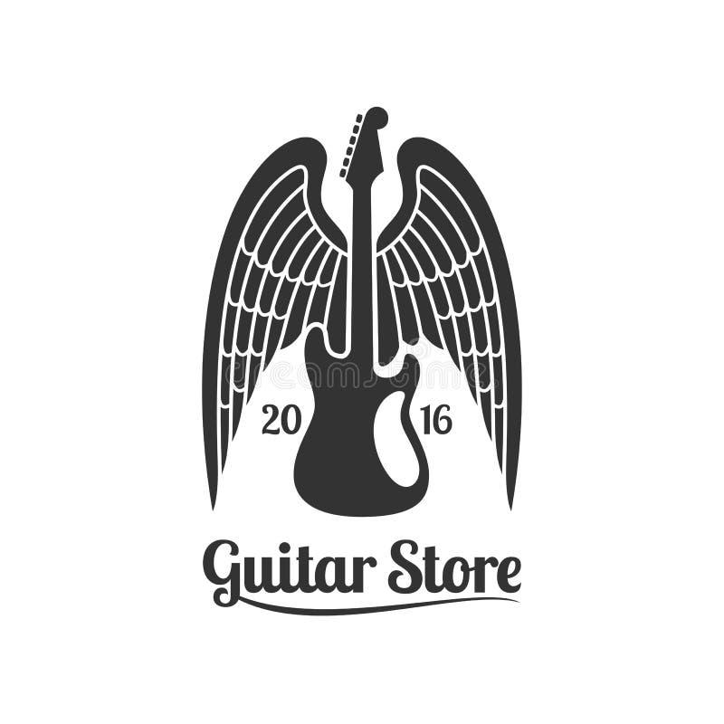 Logotipo de la plantilla del vector de la tienda de la guitarra libre illustration