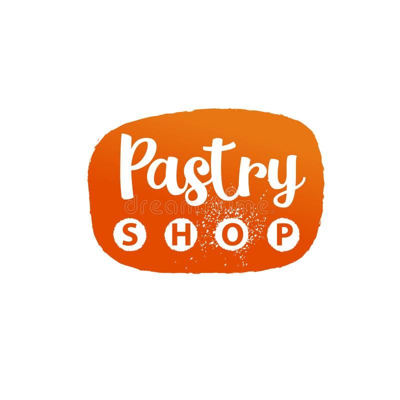Logotipo de la plantilla para la galleta, postre, tienda de pasteles, tienda, mercado ilustración del vector