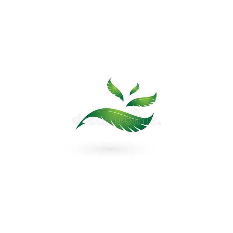 Logotipo de la pluma y plantilla del vector del icono stock de ilustración