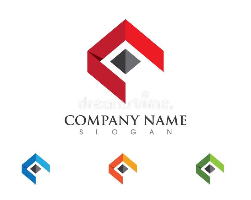 Logotipo de la propiedad y de la construcción stock de ilustración