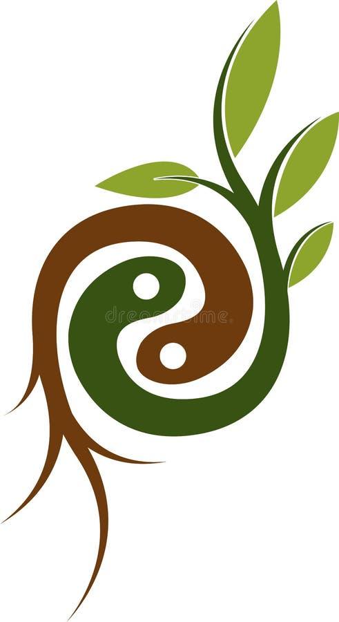 Logotipo de la raíz de la planta libre illustration