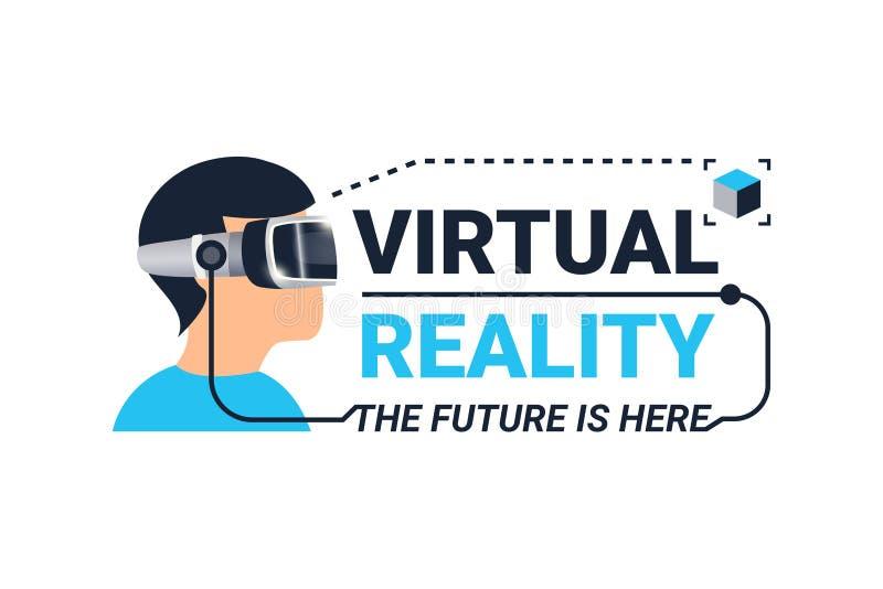 Logotipo de la realidad virtual libre illustration
