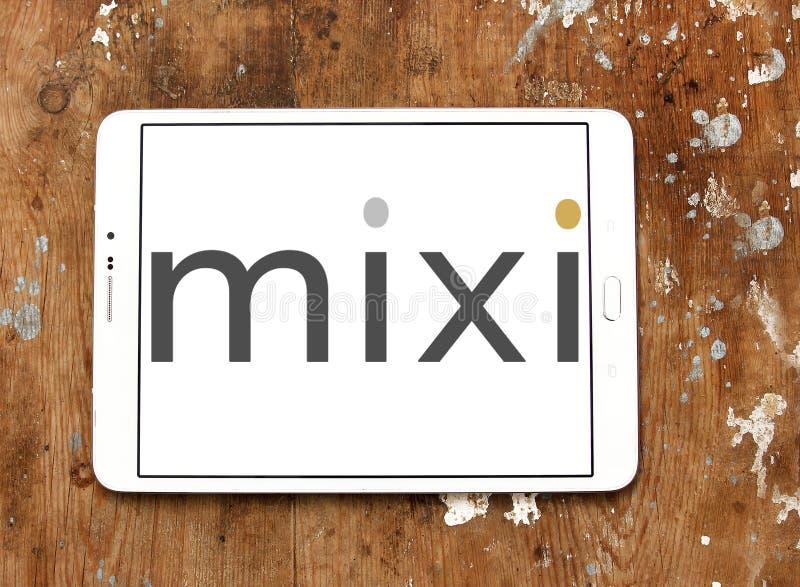 Logotipo de la red del social Mixi imágenes de archivo libres de regalías