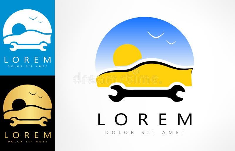 Logotipo de la reparación auto Ilustración del vector ilustración del vector