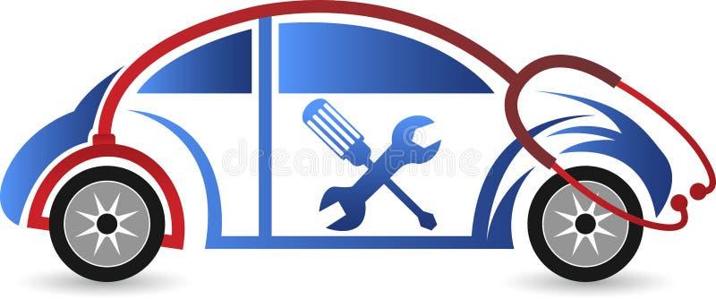 Logotipo de la reparación del coche ilustración del vector