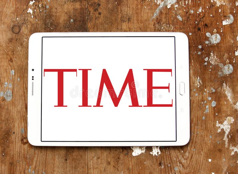 Logotipo de la revista Time fotos de archivo