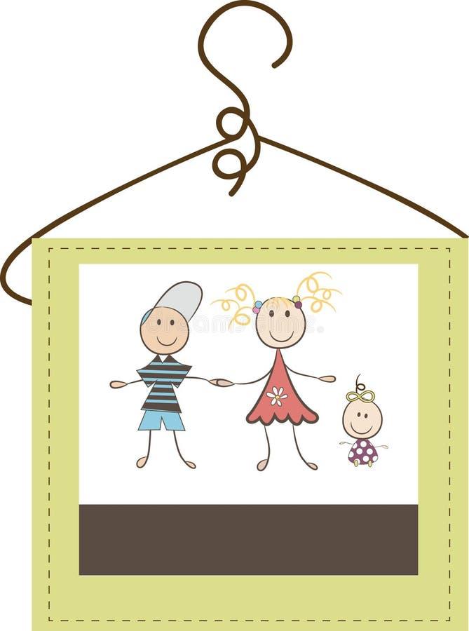 Logotipo de la ropa de los niños imágenes de archivo libres de regalías