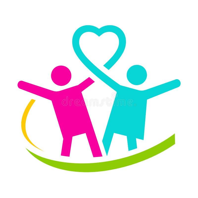 Logotipo de la salud de la familia ilustración del vector