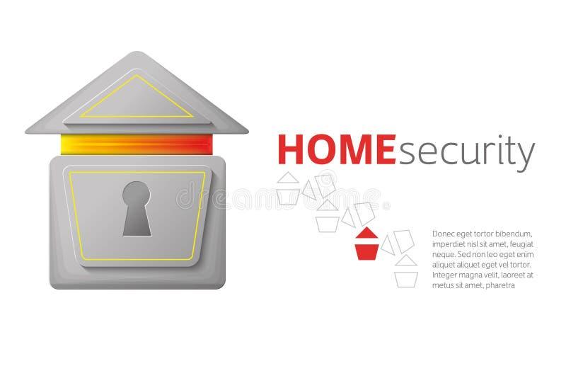 Logotipo de la seguridad en el hogar libre illustration