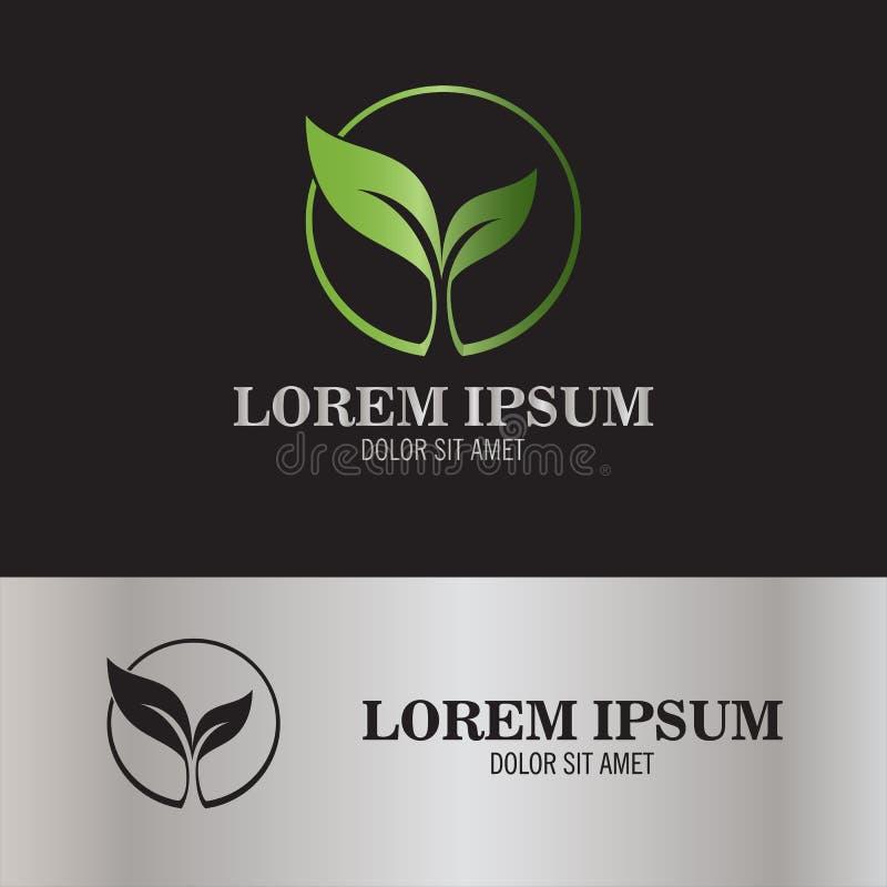 Logotipo de la semilla de la hoja fotos de archivo