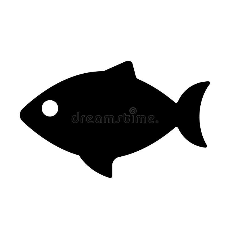 Logotipo de la silueta de los pescados Vector Logo Template del icono de los pescados stock de ilustración