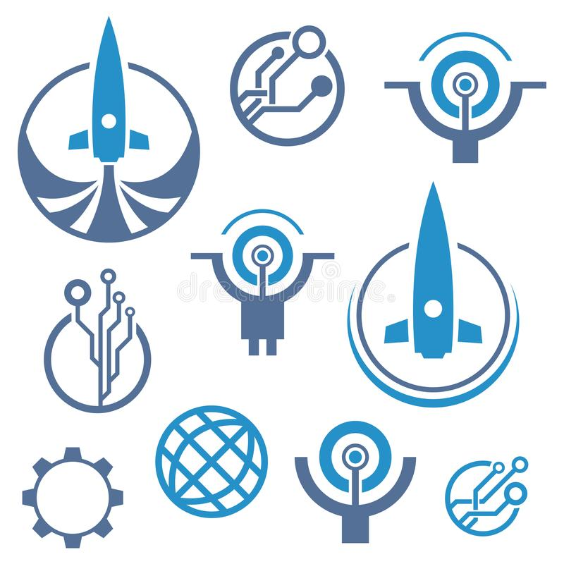 Logotipo de la tecnología Icono de Rocket libre illustration