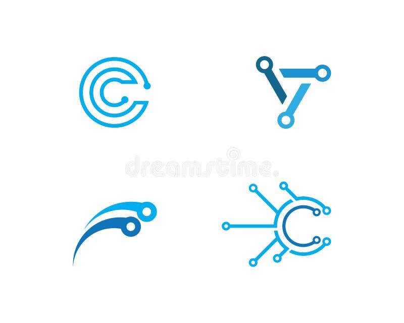 logotipo de la tecnolog?a de circuito libre illustration