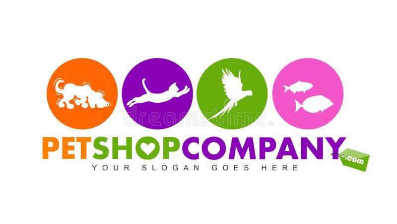 Logotipo de la tienda de animales stock de ilustración