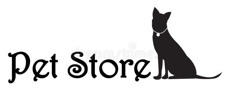 Logotipo de la tienda del animal doméstico stock de ilustración