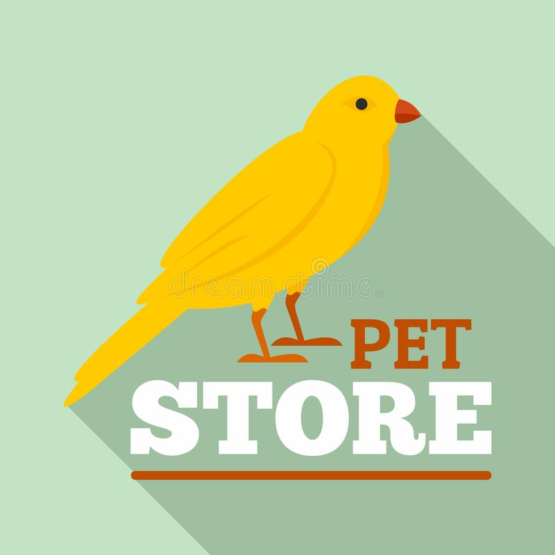 Logotipo de la tienda del animal doméstico del pájaro, estilo plano libre illustration