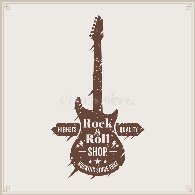 Logotipo de la tienda del rock-and-roll libre illustration
