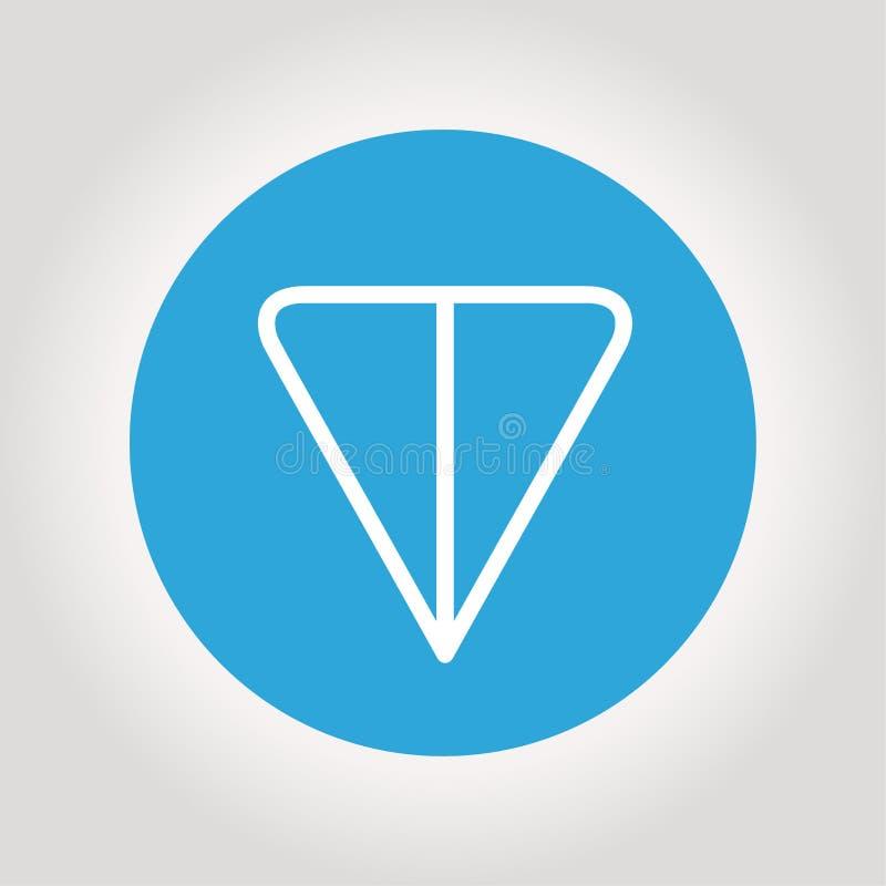 Logotipo de la TONELADA Cryptocurrency de la red abierta del telegrama Ilustración del vector libre illustration