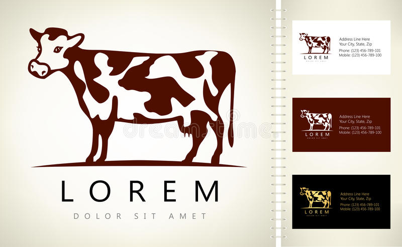 Logotipo de la vaca libre illustration