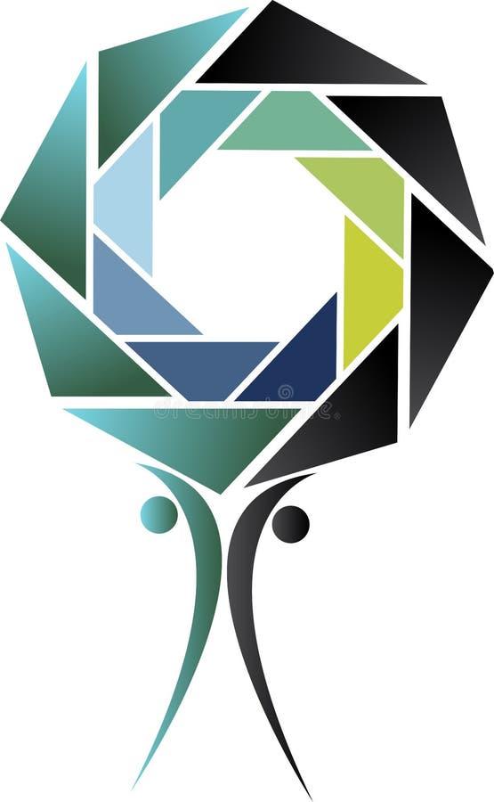 Logotipo de la velocidad de obturador de los pares libre illustration