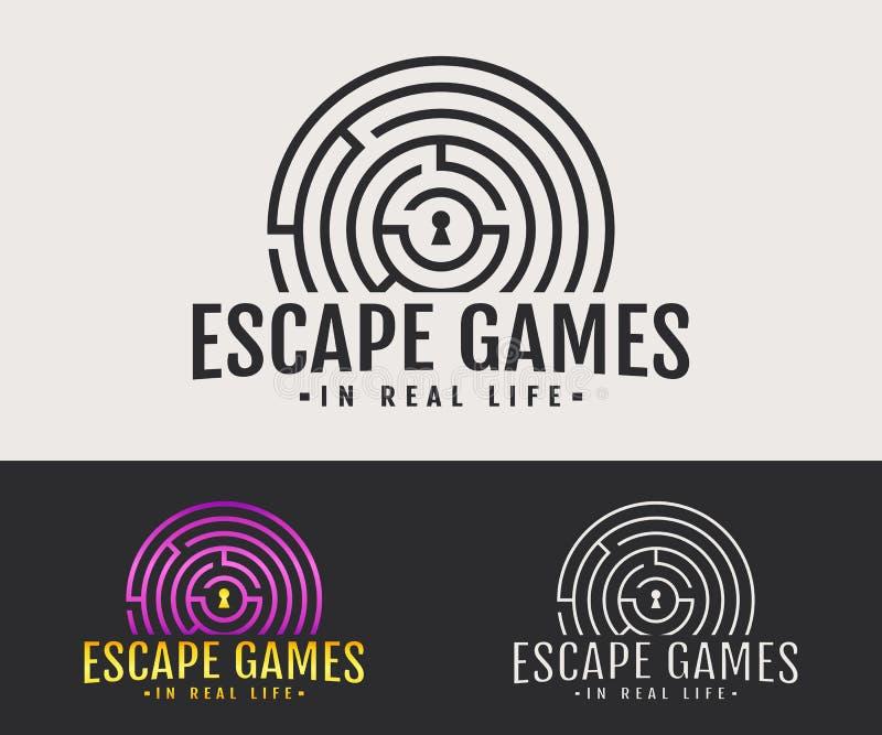 Logotipo de la vida real de los juegos del escape libre illustration